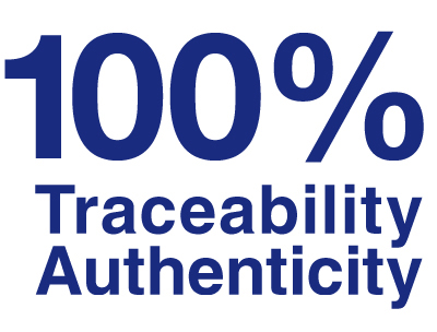100% traceability authenticity